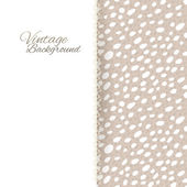 Vintage card on sepia seamless background grunge dots — Stock Vector