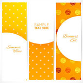 Banners set with polka dots texture — Stock Vector