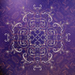 Violet floral ornament mandala background card — Stock vektor