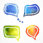 Vector watercolor speech bubbles — Stock Vector