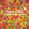 Colorful rainbow triangular background card back to school — Stock Vector
