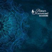 Floral ornament mandala background card — Stock Vector