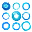 Design elements in blue colors icons. Set 5 — Stock Vector