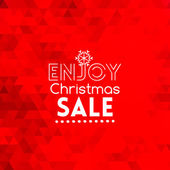 Enjoy Christmas Sale card abstract red background — Stock Vector