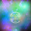 Disco nigth abstract background — Stock Vector