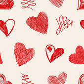 Love hearts sketch hand drawn — Vector de stock