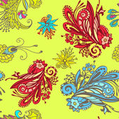 Colorful flower seamless pattern — Vettoriale Stock