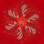 Red flower seamless pattern — Vettoriale Stock