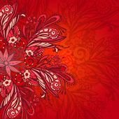 Kırmızı çiçek seamless modeli — Stok Vektör