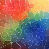 Sfondo colorato con mosaico geometrico arcobaleno — Vettoriale Stock