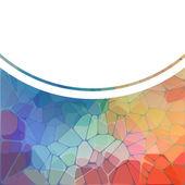 Kleurrijke achtergrond met geometrische mozaïek van de regenboog — Stockvector