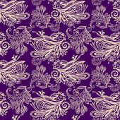 Modèle seamless floral violet — Vecteur
