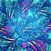 Modèle sans couture fleur bleue — Vecteur