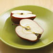 Red Apples on the plate. — Stock Photo