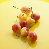 Cherries on the glass. — Stock Photo