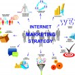 Marketing strategy — Imagen vectorial
