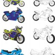 Motorcycles — Stock Vector #19991565