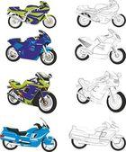 Motorcycles — Stock Vector