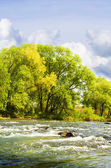 Mighty river channel — Stock Photo
