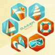 Summer icons. — Stock Vector