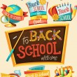 Back to school design template — Stock Vector #38989435