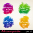 Watercolor splatters. — Stockvector  #38989473