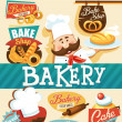 Stock Vector: Bakery design template