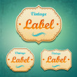 Vintage labels. — Stock Vector