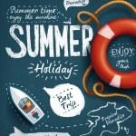 Summer creative design template — Stock Vector