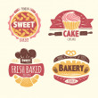 Stockvektor : Bakery badges set
