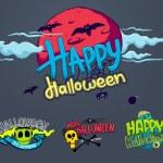 Halloween horror design set — Stock Vector