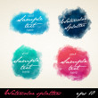 Watercolor splatters. — Stock Vector #38989937