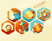 Vector summer poster — Stock Vector