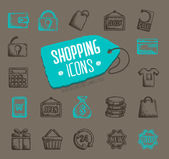 Vector shopping icons — Stock Vector
