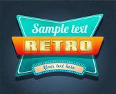 Retro motel sign. — Stock Vector