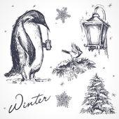 Winter design elements — Stock Vector