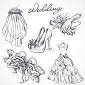 Wedding design elements — Stock Vector