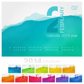 Vector calendar of 2014. — Stock Vector