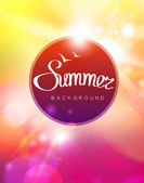 Vector summer background — Stock Vector