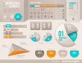 Infografiken vektorelemente — Stockvektor