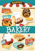 Bäckerei Entwurfsvorlage — Stockvektor