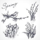 Spring set. — Stock Vector