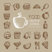 Food vector icons — Stock Vector