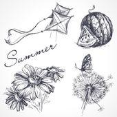 Summer design elements — Stock Vector