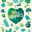 Nature design elements. — ストックベクタ