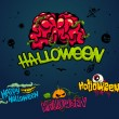 Halloween horror design set — Vector de stock #38990117