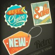 Retro sale badges — Stock Vector #38990269