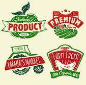 Natural product badges — 图库矢量图片