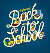Back to school design template — Stockvektor