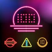 Vektör neon set — Stok Vektör